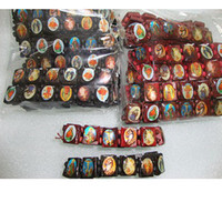 ingrosso mescolare i braccialetti dorati-Fashion Saints Jesus Religious Wood Icona cattolica Bracciale 24 pezzi