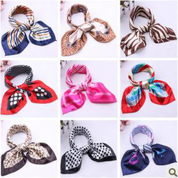 Wholesale Square Polka Dot Scarves - DHL Free New Design Fashion Women`s Hight Quality Silk Square Scarf Magic Scarves