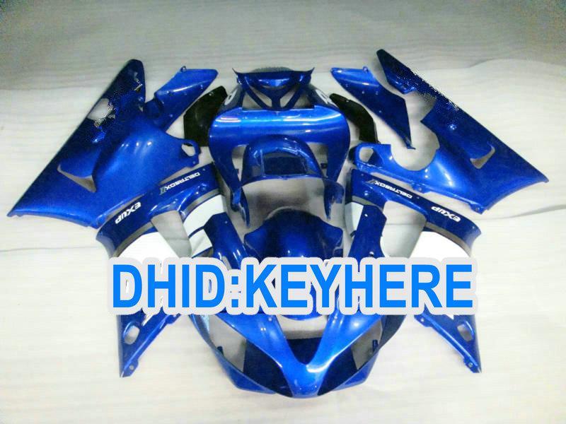 ABS YAMAHA YZF R1 2000 용 페어링 00 01 YZF-R1 YZF R1 2000-2001 용 짙은 파란색 페어링 키트