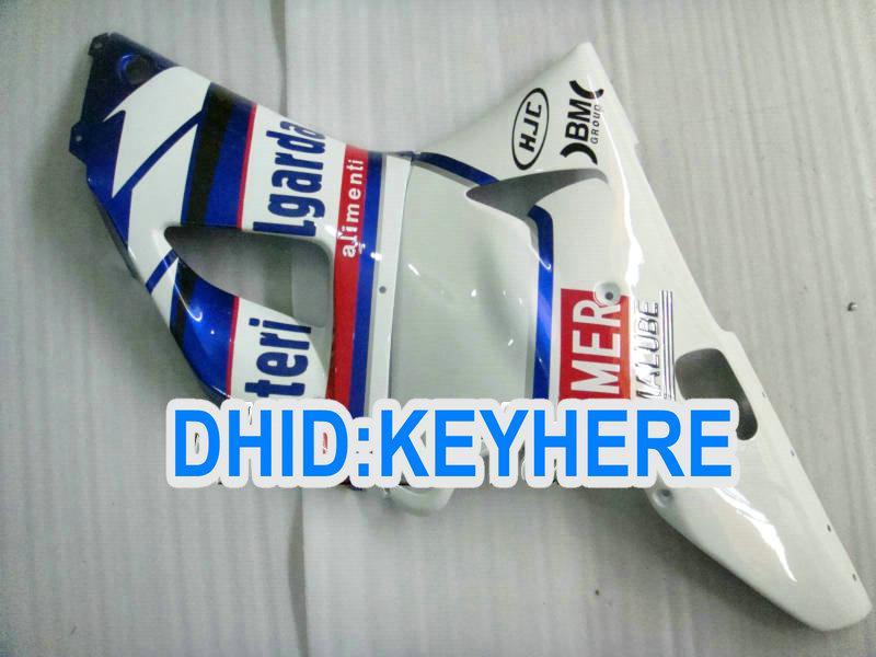 ABS Plast Vit / Blå Fairing Kit för Yamaha YZF R1 2000 2001, Fairings för 00 01 YZF-R1 YZF R1 2000