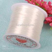 Wholesale Stretchy Beading Cord Wholesale - 10pcs 0.5mm white Elastic Beading Cord Stretchy String 80Yard