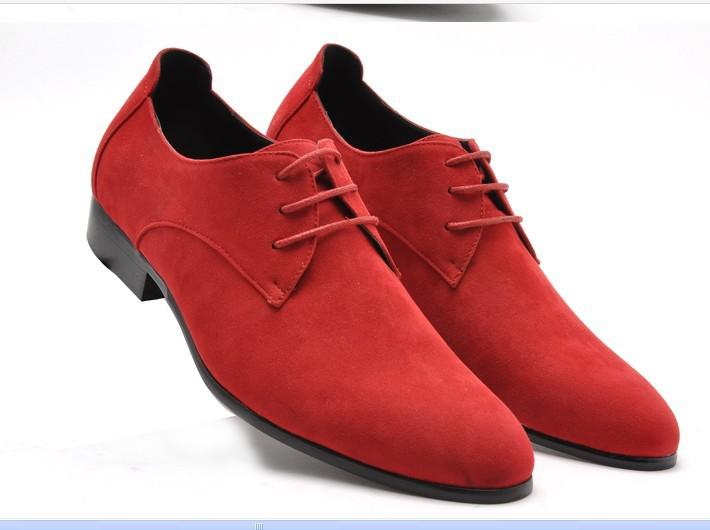 Fashion Real Leather Shoes Men's Wedding Shoes Porm Shoes Dress ...