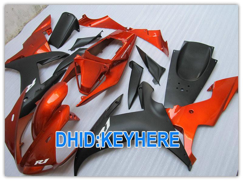 1 Satz Orange Verkleidungen ABS Road / Racing Verkleidungskit für YAMAHA YZF R1 2002 2003 YZF-R1 YZF R1 02 03