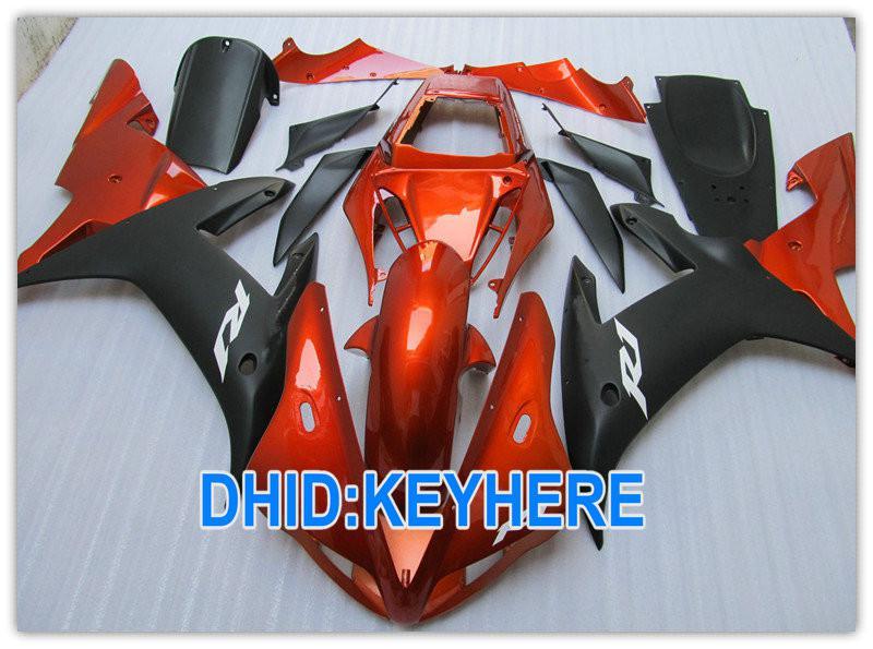 de carénages orange Kit de carénage ABS Road / Racing pour YAMAHA YZF R1 2002 2003 YZF-R1 YZF R1 02 03