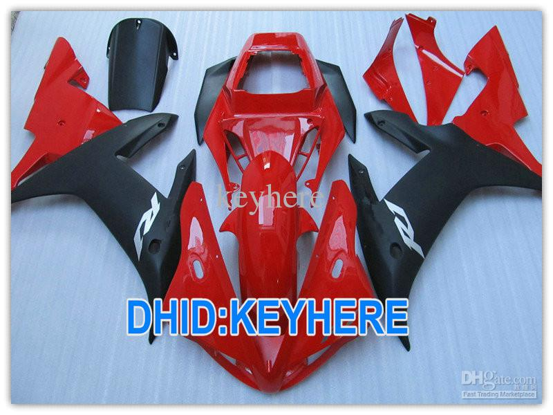 1 SET RED/black Body kit ABS Road/Racing fairing kit for YAMAHA YZF R1 2002 2003 YZF-R1 YZF R1 02 03