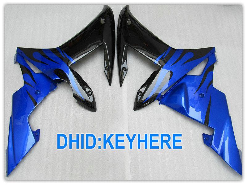 Glossy Black / Blue Road / Racing Fairing Kit voor Yamaha YZF R1 2002 2003 YZF-R1 YZF R1 02 03 Valerijen