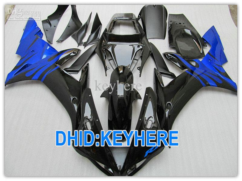 Glossy Black/Blue Road/Racing fairing kit for YAMAHA YZF R1 2002 2003 YZF-R1 YZF R1 02 03 FAIRINGS