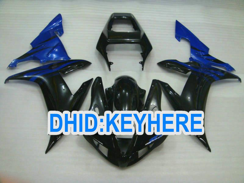 1 set Black/Blue ABS Road/racing fairing kit for YAMAHA YZF R1 2002 2003 YZF-R1 YZFR1 02 03 fairings