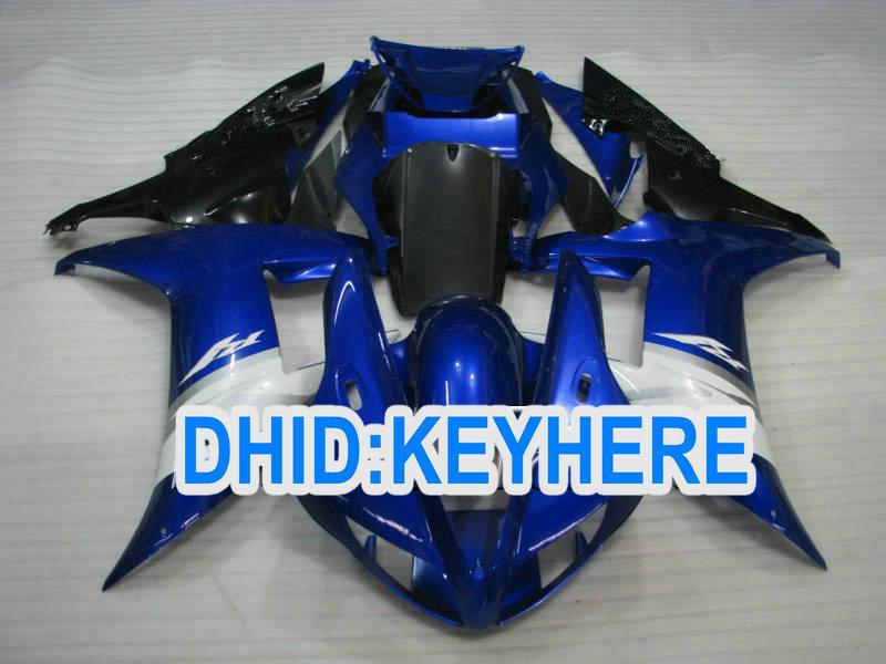1 satz dunkelblau Straße Motorcycel verkleidung kit für YAMAHA 2002 2003 YZF R1 YZF-R1 YZFR1 02 03 Karosserie