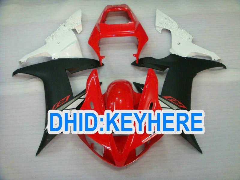 Full set RED/WHITE/BLACK Road Aftermarket fairing kit for YAMAHA 2002 2003 YZF R1 YZF-R1 02 03 YZFR1
