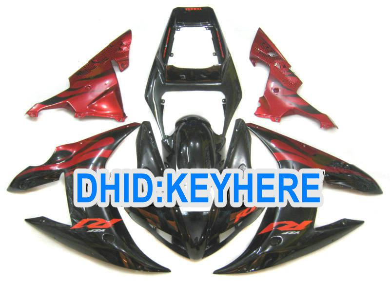 Full set RED Flame motorcycle fairing kit for YAMAHA 2002 2003 YZF R1 YZF-R1 YZFR1 02 03 fairing SET