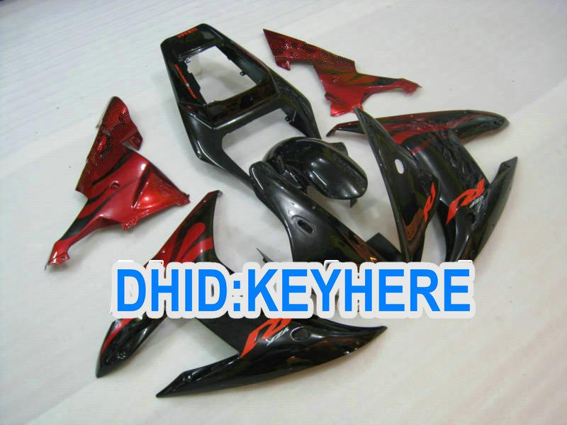 YNL48 Red Flame Motorcycle Fairing Kit voor Yamaha 2002 2003 YZF R1 YZF-R1 YZFR1 02 03 Kuipenset