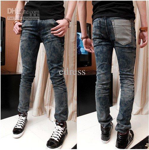 2017 New Fashion Jeans For Men Unique Casual Trousers South Korea ...