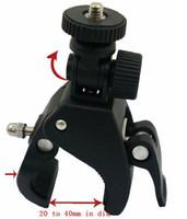 cámara de montaje de motocicleta al por mayor-Manillar de la motocicleta de la bici de la bicicleta Monte el trípode para la cámara Video digital Cabeza giratoria de 360 grados