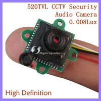 Wholesale smallest hd cctv camera - 0.008Lux 12V 520TVL Mini CCTV Camera Smallest HD & Night Vision Security Camera