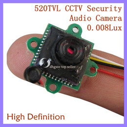 Wholesale Cctv Small Camera - 0.008Lux 12V 520TVL Mini CCTV Camera Smallest HD & Night Vision Security Camera