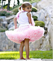 Wholesale Kid Fur Skirt - Summer Princess Dress Petti Skirt Baby Pettiskirt Kids Petticoat Baby Tutu skirt Tutu Skirts Baby Dresses Party Baby
