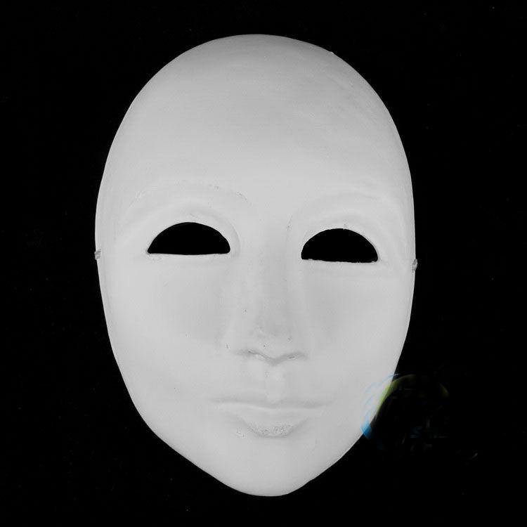 Non épaissie Masquer Masquerade Masques Pour Hommes Plein Visage Papier Pulp Plain Blanc Bricolage Fine Art Peinture Partie Masques /
