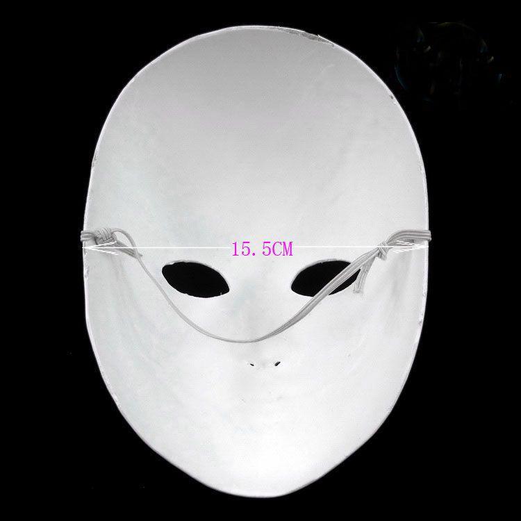 Espesar sin pintar en blanco blanco partido máscaras para mujeres que decoran ambiental pulpa de papel cara completa bricolaje bellas artes pintura máscara de la mascarada