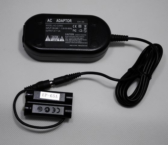 Frete Grátis adaptador AC EH-65 + EP-65A (EH-65A) para NIKON P60, P50, L18, L16, L15, L14, L12, L11, L6, L5, L3