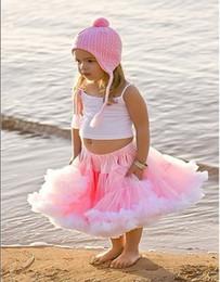 Wholesale Girls Pleated Dance Skirt - Free Shipping bBby Vest Skirt Baby Pettiskirt Tutu Skirt Girl Top Baby Dress Dancing Skirt 5pcs lot