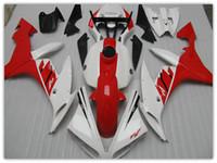 yamaha yzf r1 al por mayor-Kit de carenado completo blanco / ROJO para YAMAHA 2004 2005 2006 YZF R1 YZF-R1 YZFR1 04 05 06 carenados