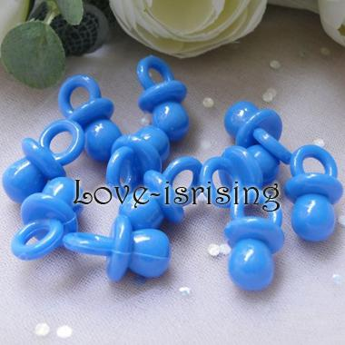 Clear Color Mini Acrylic Baby Pacifier Baby Shower Favors~Cute Charm
