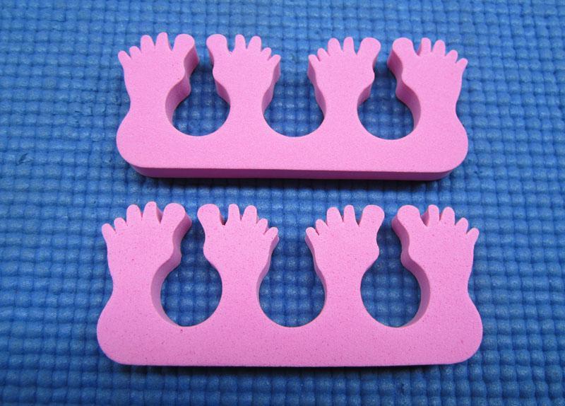 50 piezas / lote Pinkfoot Nail Art Soft Finger Toe Separator para el cuidado de las uñas / manicura