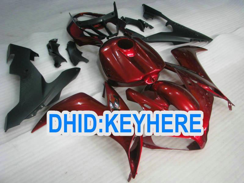 Wine RED Komplettes ABS Verkleidungskit für YAMAHA 2004 2005 2006 YZF-R1YZF R1 2004-2006 YZFR1 04 05 06