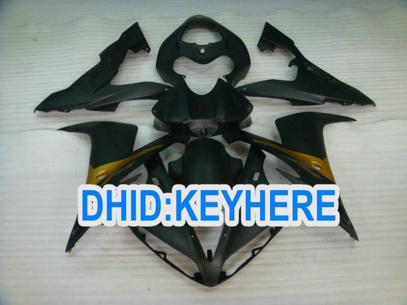 Svart Motorcykel Fairing Kit för Yamaha 2004 2005 2006 YZF-R1YZF R1 2004-2006 YZFR1 04 05 06 FAIRING