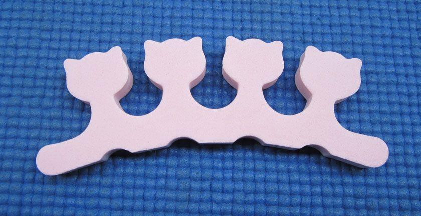/ pinkcat Nail Art doigt souple séparateur d'orteils pour le soin des ongles / manucure