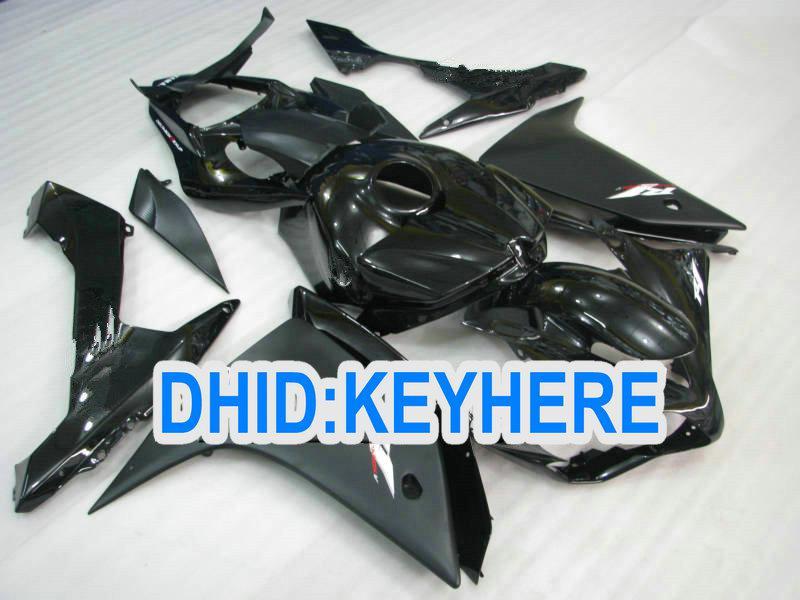 매트 / 광택 블랙 ABS 페어링 키트 for YAMAHA 2007 2008 YZF-R1YZF R1 2007-2008 YZFR1 07 08 바디 키트