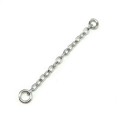 20 stks / partij 925 Sterling Zilveren Oorbel Kettingen Bevindingen Componenten Connectoren Voor DIY Craft Sieraden Gift 1.5x25mm WP087