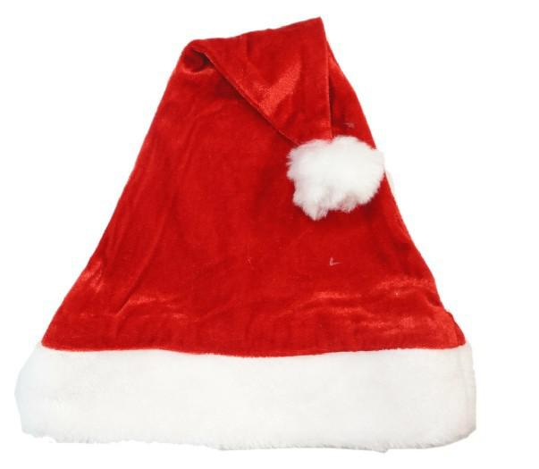 40pcs / lot 슈퍼 소프트 크리스마스 모자 고급 벨벳 플러시 산타 클로스 모자 무료 크기 무료 배송