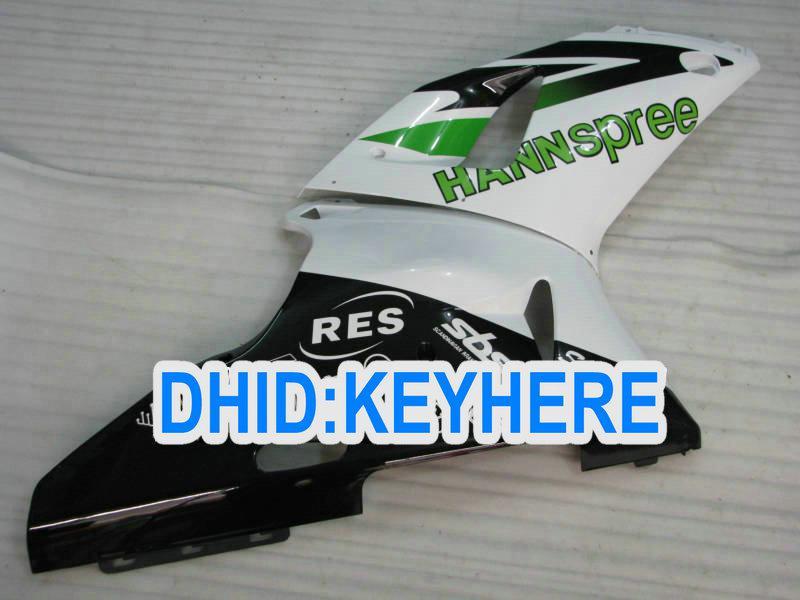 YNL84 Vit Hannspree Fairing Kit för Yamaha YZF-R1 98 99 YZF R1 1998 1999 YZFR1 98-99 Fairings
