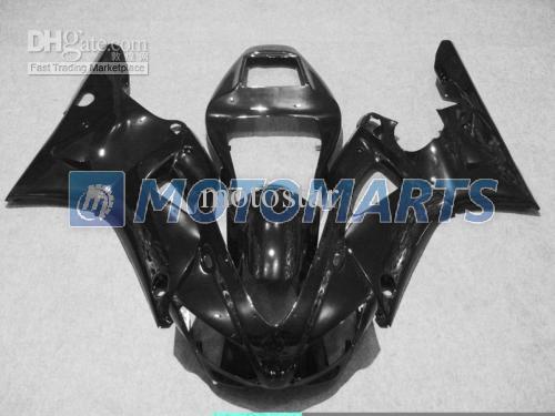 Kit de carenagem de motocicleta brilho preto para YAMAHA YZF R1 1998 1999 YZFR1 98 99 YZF-R1 98-99 YZF1000