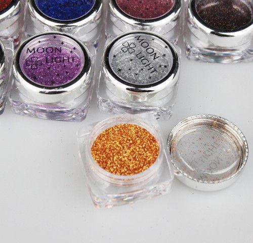 20st / parti 19 färg pro kroppsmålning tatuering glitter tillfällig tatuering glitter diamant santorum för kroppskonst