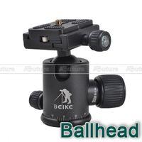 Wholesale Tripod Ball Head Pan - BEIKE Pro 360 Degree Pan Camera Tripod Ballhead Quick Release Plate Ball Head PK019