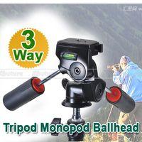 ingrosso piastra di sgancio rapido per treppiede-Telecamera 3 vie 2- Manopola a sfera Treppiede Monopiede Ballhead Piastra a sgancio rapido 360 gradi PK020