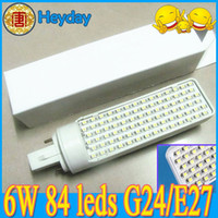 Wholesale Horizon Led - Cheap! 6W energy-saving horizon down light spotlight 84 LED bulb lamp spot light E27 B22 G23 G24 E14