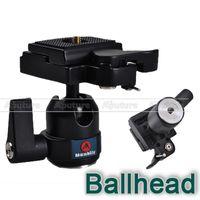 placa de liberación rápida manfrotto al por mayor-Mini Ball Head con placa de liberación rápida como Manfrotto 484RC2 para Canon, Nikon PK018