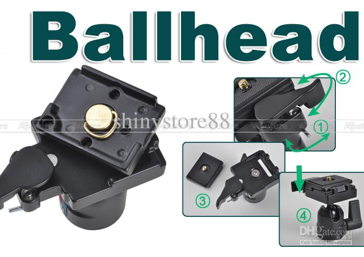 Mini Ball Head with Quick-release Plate as Manfrotto 484RC2 for Canon, Nikon PK018
