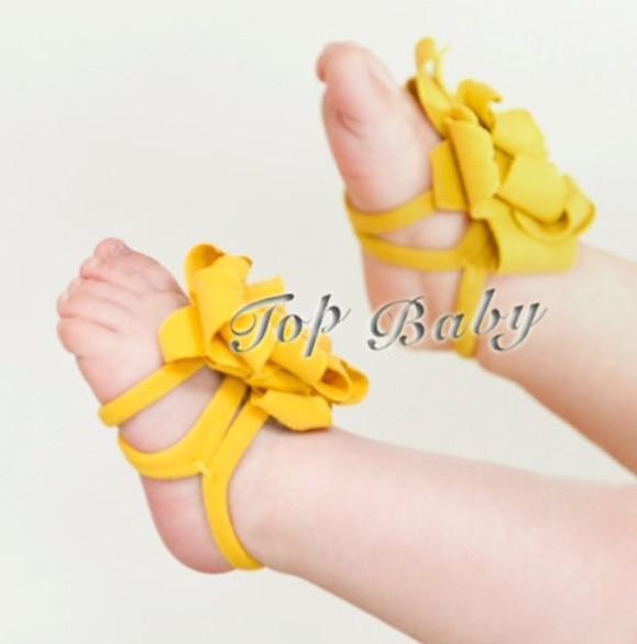 10pairs (20pcs) TOP BABY Sandales / Sandales aux pieds nus Ornements de pied
