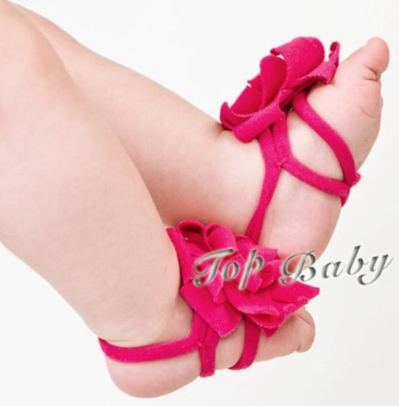 40 pares (80 pcs) sandálias do bebê / bebê menina sandálias com os pés descalços meninos sapatos de bebê vermelho sapatos da criança