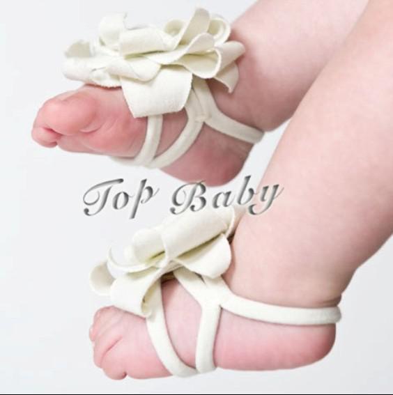 40Pairs (80pcs) baby sandaler / baby flicka barfota sandaler pojkar röda baby skor toddler skor