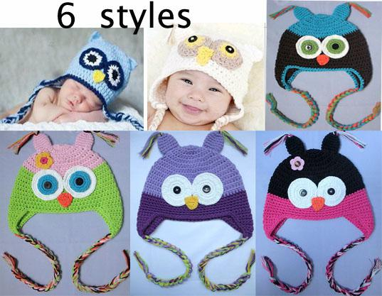 2018 Baby Boy Girl Crochet Owl Hat Cute Gorgeous Baby Toddler Girl