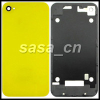 Wholesale Iphone 4s Assembly Housing - For iphone 4S Glass Housing Back Cover Assembly Battery Door Replacement With Flash Diffuser
