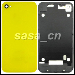 Wholesale Iphone 4s Back Assembly - For iphone 4S Glass Housing Back Cover Assembly Battery Door Replacement With Flash Diffuser