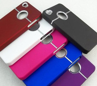 Wholesale Deluxe 4g - 10pcs lot Deluxe Hard Back Cover Case Skin With Chrome For iPhone 4S 4 4G