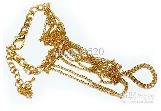 Anel elegante da faixa do bracelete da corrente do anel dos braceletes